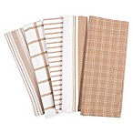 KAF Home Kitchen Towels in Tan (Set of 5)