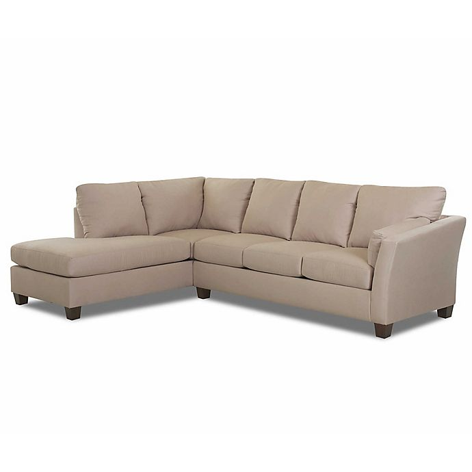 Swell Klaussner Drew 2 Piece Sectional Sofa With Left Chaise In Inzonedesignstudio Interior Chair Design Inzonedesignstudiocom