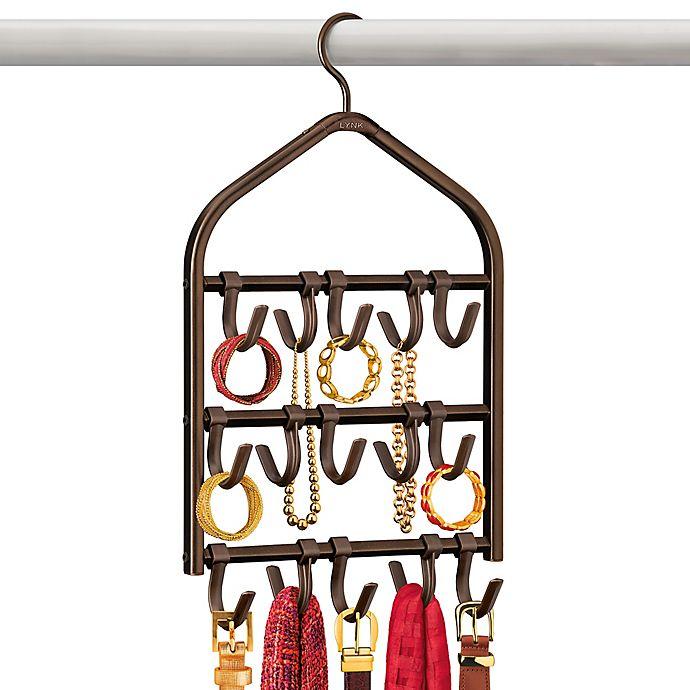 Alternate image 1 for Lynk Double Sided 15-Hook Accessory Hanger