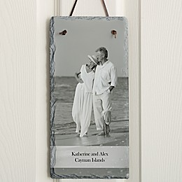 Photo Sentiments Vertical Slate Sign
