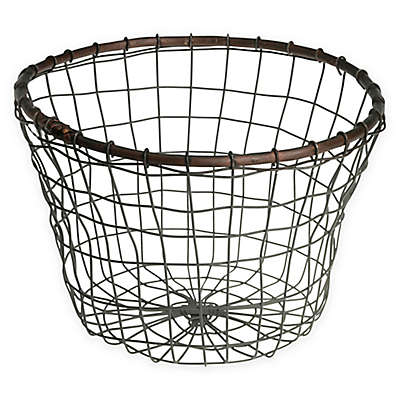 Down To Earth Tulip Wire Bread Basket in Silver/Dark Grey