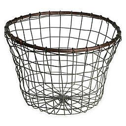 Down To Earth Tulip Wire Bread Basket in Silver/Dark Grey