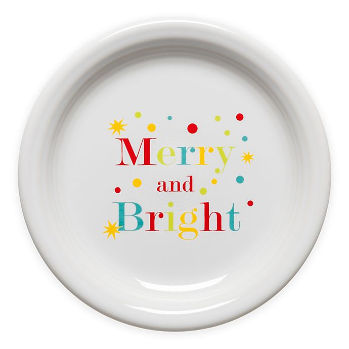 Fiesta Merry And Bright Appetizer Plate In White Bed Bath Beyond