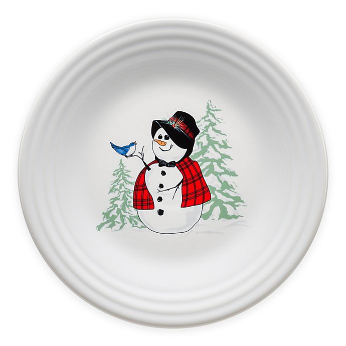 Alternate image 1 for Fiesta® Snowlady Luncheon Plate in White