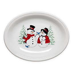Fiesta® Snowman Oval Platter in White