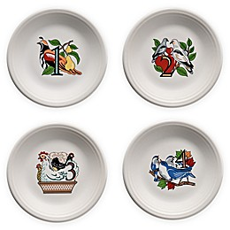 Fiesta® Twelve Days of Christmas Day 1-4 Salad Plates in White (Set of 4)