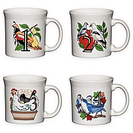 Fiesta® Twelve Days of Christmas Day 1-4 Mugs in White (Set of 4)