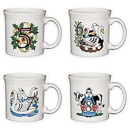 Fiesta® Twelve Days of Christmas Day 5-8 Mugs in White (Set of 4)
