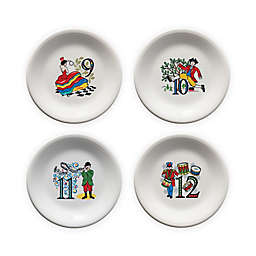 Fiesta® Twelve Days of Christmas Day 9-12 Salad Plates in White (Set of 4)