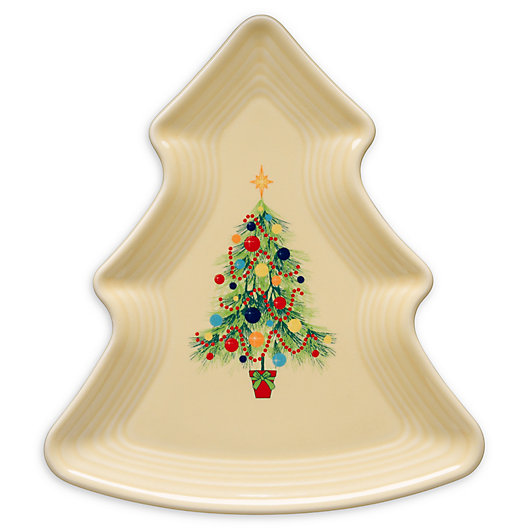 Alternate image 1 for Fiesta® Christmas Holiday Tree-Shaped Plate in Ivory