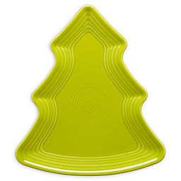 Fiesta® Christmas Tree-Shaped Plate in Lemongrass