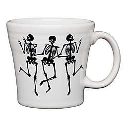 Fiesta® Halloween Trio of Skeletons Tapered Mug in White