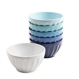 Gibson 6-Piece Ice Cream Bowl Set in Blue