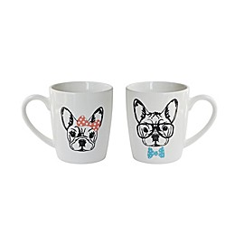 American Atelier French Bulldogs Mugs (Set of 2)