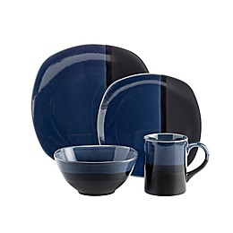 Over and Back® Rio 16-Piece Dinnerware Set in Blue/Black