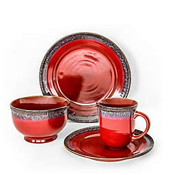 Over and Back® Native 16-Piece Dinnerware Set in Red