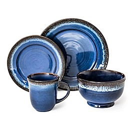 Over and Back® Native 16-Piece Dinnerware Set in Blue