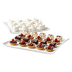 Over and Back® Freya 2-Piece Serving Platter Set in White