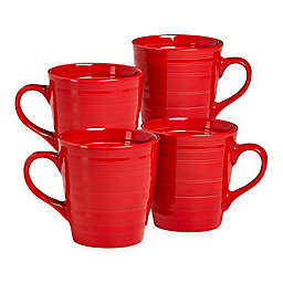 Over and Back® Centric Coffee Mugs in Red (Set of 4)