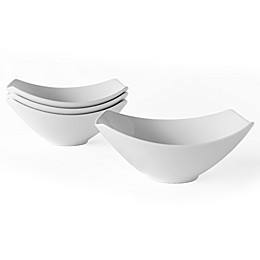 Over and Back® Sideways Bowls in White (Set of 4)