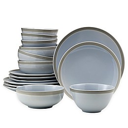 Over and Back® Ridge 16-Piece Dinnerware Set in Blue