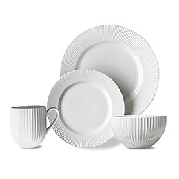 Over and Back® Carlyle 16-Piece Dinnerware Set in White