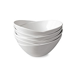 Over and Back® Wave Bowls in White (Set of 4)