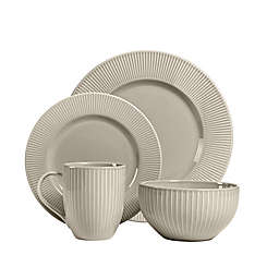 Over and Back® Carlyle 16-Piece Dinnerware Set in Grey