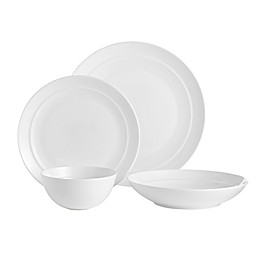 Over and Back® Clarity 16-Piece Dinnerware Set in White