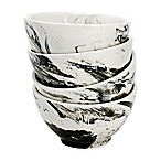 Over and Back® Dune Marble Bowls in Grey/White (Set of 4)