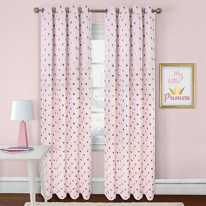 Alternate image 1 for Colordrift Heart Rod Pocket Room Darkening Window Curtain Panel