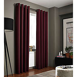 Red Curtain Panels Hanging Style Grommet Bed Bath