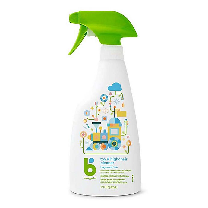 Alternate image 1 for Babyganics® 17 oz. Fragrance-Free Toy & Highchair Cleaner