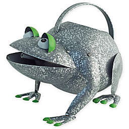 Boston International Croaky Frog Watering Can in Silver/Green