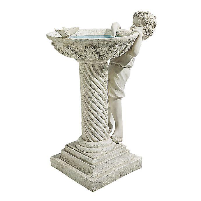 Alternate image 1 for Design Toscano Summer's Splash Sculptural Bird Bath in Stone