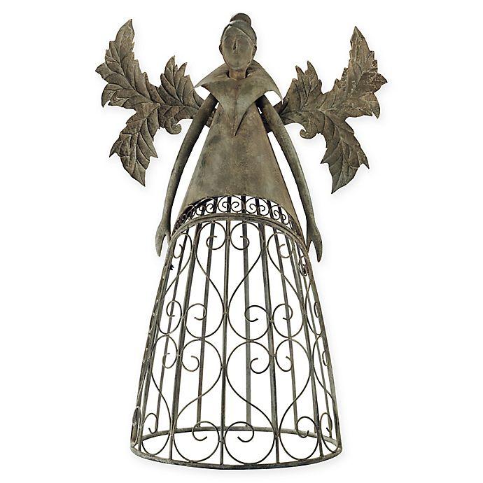 Alternate image 1 for Design Toscano Tempest, the Metal Garden Trellis Fairy Sculpture in Grey