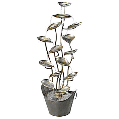 Design TOSCANO® Rain Forest Cascading Metal Fountain
