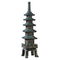 Design TOSCANO® The Nara Temple: Asian Garden Pagoda Sculpture in Bronze