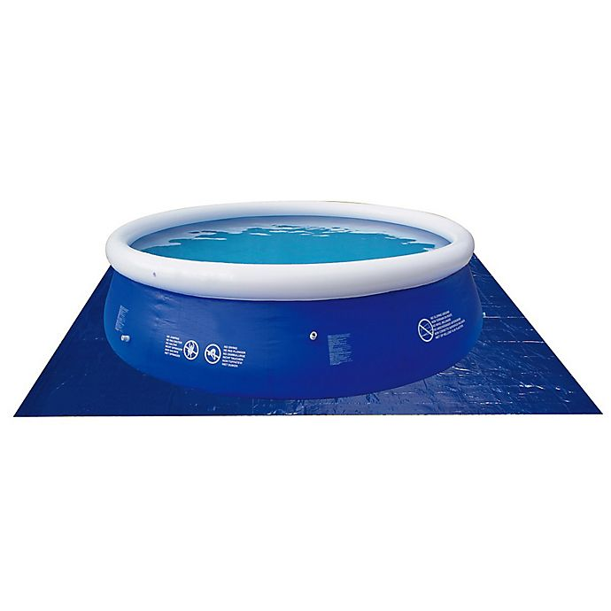 Alternate image 1 for Pool Central 18.5' Square Swimming Pool Ground Cloth