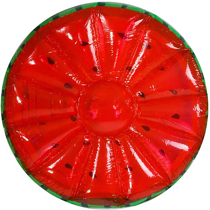 Alternate image 1 for Pool Central 58-Inch Inflatable Watermelon Float in Green/Red