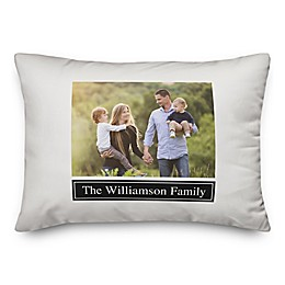 Monochromatic Indoor/Outdoor Oblong Throw Pillow