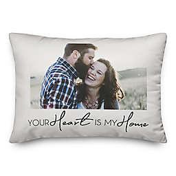 Heart My Home Indoor/Outdoor Oblong Throw Pillow