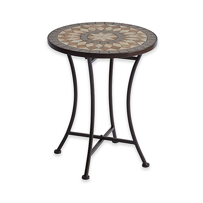 Alternate image 1 for Mosaic Stone Accent Table