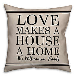 Designs Direct House a Home Indoor/Outdoor Square Throw Pillow