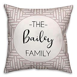 Designs Direct Aztec Indoor/Outdoor Throw Pillow in Beige