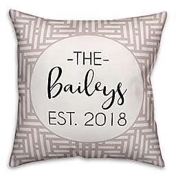 Designs Direct Aztec Est. Indoor/Outdoor Throw Pillow in Beige