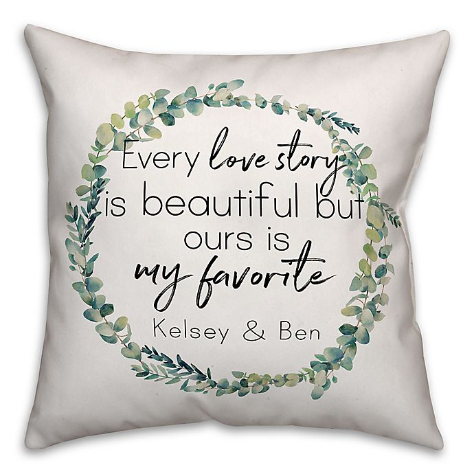 Alternate image 1 for Designs Direct Every Love Story Indoor/Outdoor Square Throw Pillow
