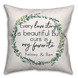 Designs Direct Every Love Story Indoor/Outdoor Square Throw Pillow