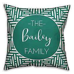 Designs Direct Aztec-Inspired Indoor/Outdoor Throw Pillow in Teal