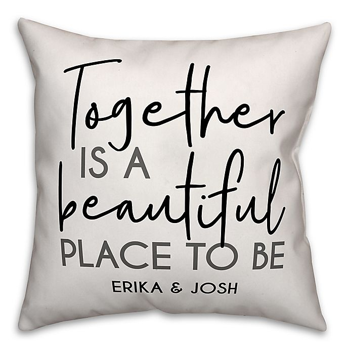 Alternate image 1 for Designs Direct Beautiful Place Indoor/Outdoor Square Throw Pillow